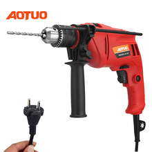 AOTUO Multifunctional Electric Tool Electric Drill Hammer Drill Percussion Drill Electric Woodworking 710W AC Adjustable id2195p hammer drill pros sturm 1000 w 0 2700 rpm 0 45900 bpm percussion drill boring hammer drilling in concrete