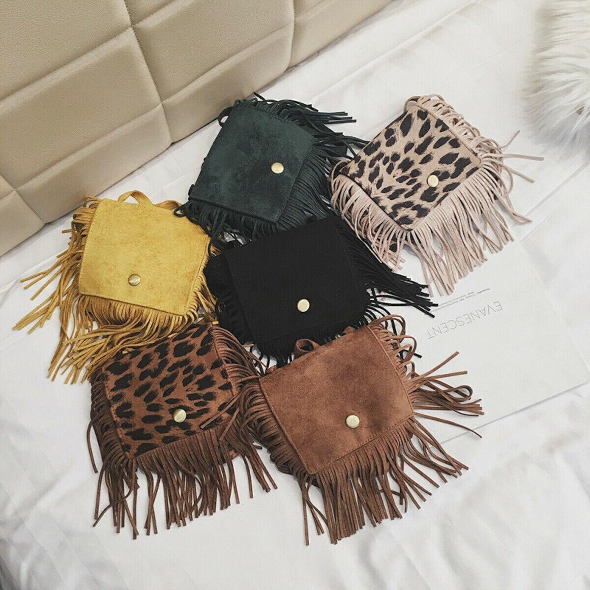 2020 Fashion Tassel Mini Messenger Bag Kids Girls Handbags Coin Purse Children Shoulder Bags Gift