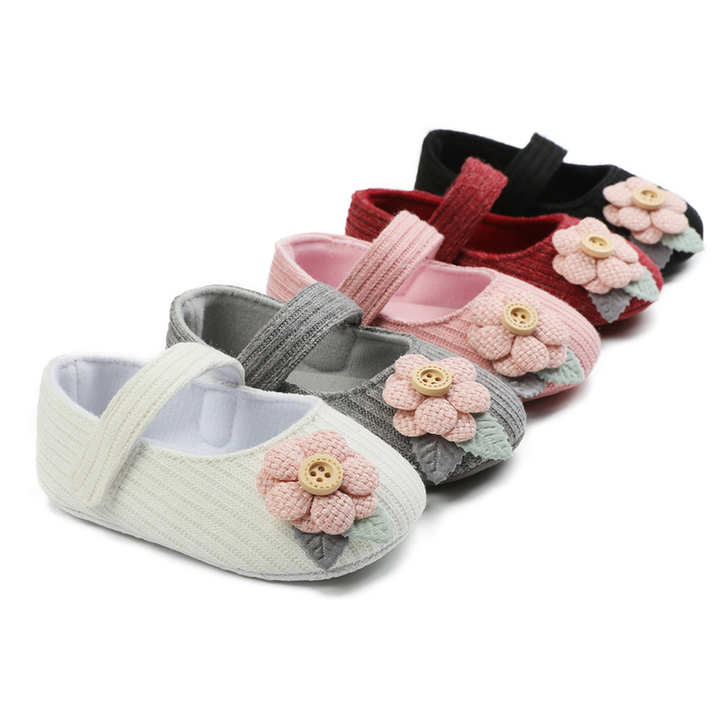 Baby Girl Shoes Breathable Flower Design Anti-Slip Casual Sneakers Toddler Soft Soled Walking Shoes3