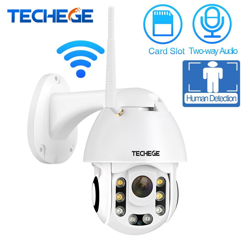 Techege HD 1080P Wireless IP Camera CCTV AI Human Detection Pan Tilt Intercom 2MP Security Camera TF Storage Outdoor Waterproof