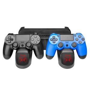 Image 3 - Многофункциональная двойная зарядная станция 3 в 1, док станция с вентилятором охлаждения для PS4/PS4 Slim/PS4 Pro, Прочный вертикальный держатель с подставкой, черный, хит продаж