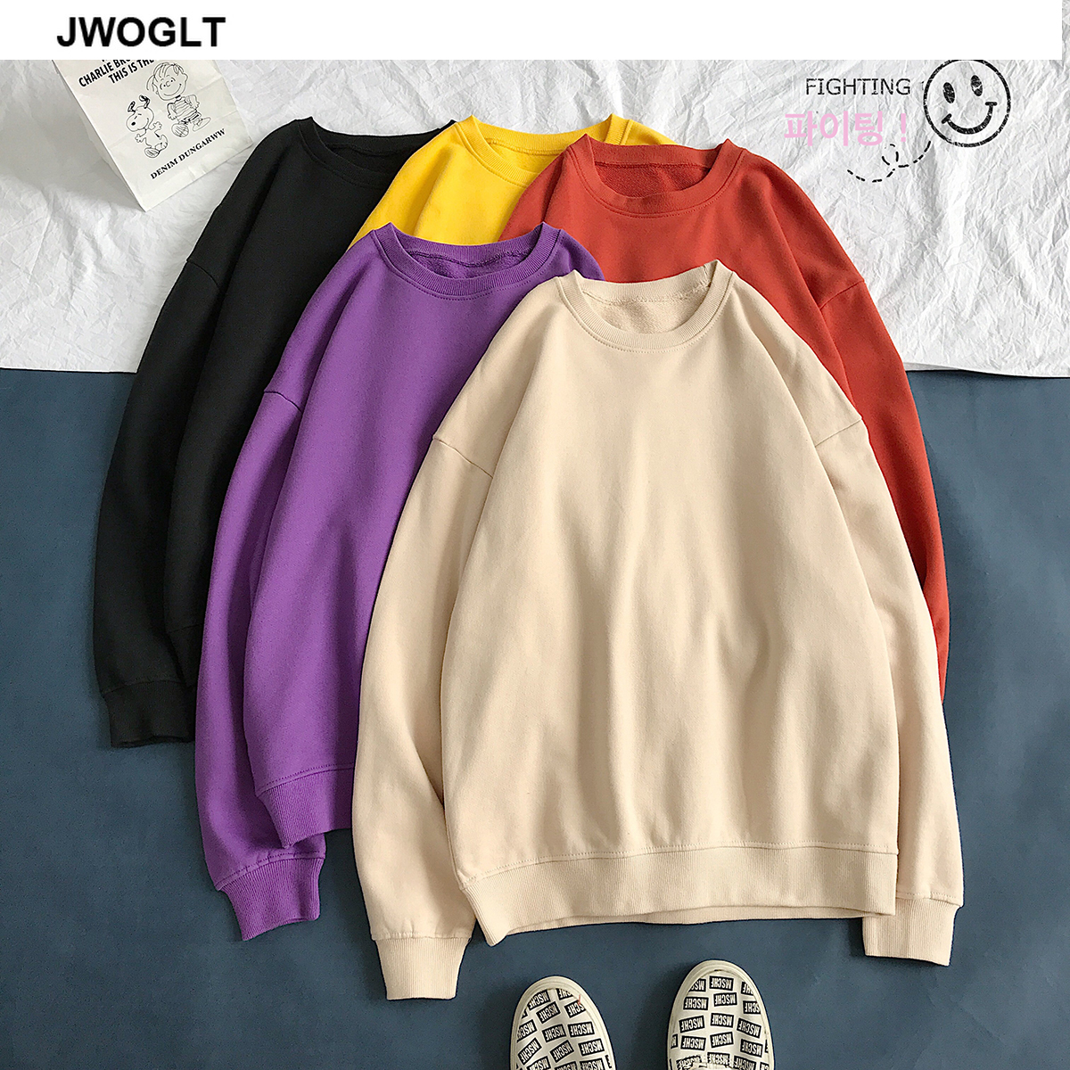 Big SaleⁿMen's Hoodies Sweatshirts Wear Long-Sleeve 12-Colors Casual Fashion Cotton O-Neck Solid