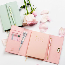 A6 Macaron Meeting Record Notebook Planner Agenda Cute Colored Travelers Journal
