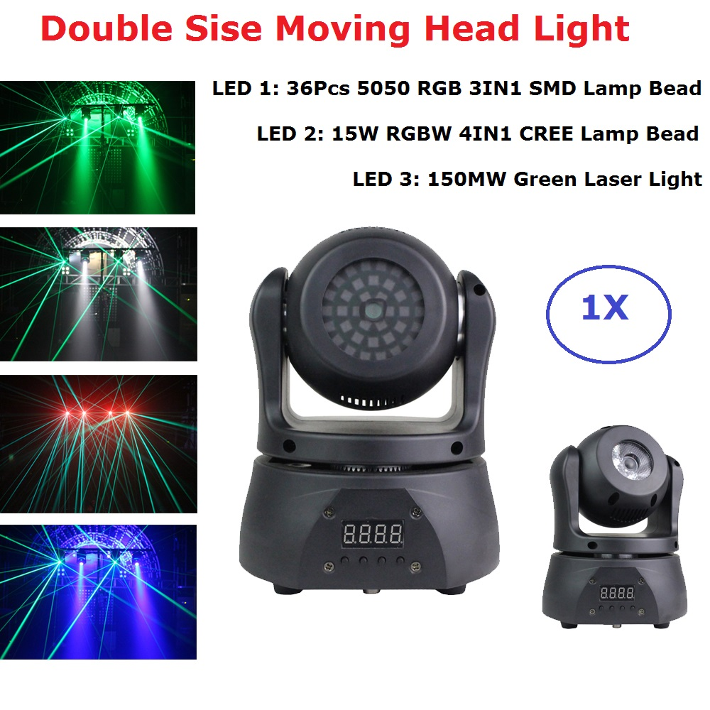 Professional Lighting Double Side Moving Head LED Wash Strobe Laser 3IN1 Moving Head Light Dj Laser Lights Beam Projector Party