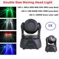 Professionele Verlichting Dubbele Side Moving Head LED Wash Strobe Laser 3IN1 Moving Head Licht Dj Laserlicht Beam Projector Party