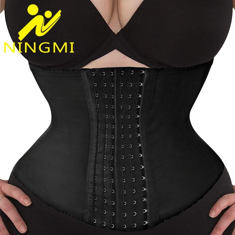 NINGMI High Waist Trainer Slim Body Shaper Slimming Shapewear Corset Belt Corrective Underwear Strap Fajas Girdles Waist Cincher