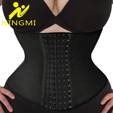 NINGMI High Waist Trainer Slim Body Shaper Slimming Shapewear Corset Belt Corrective Underwear Strap Fajas Girdles Cincher