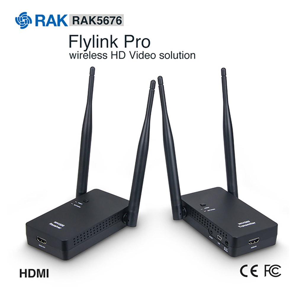Flylink Pro Wireless HDMI Transmission Kit 270M Range 5G WIFI Transmitter Receiver 1080P HD Video Broadcast With USB Cable Q248