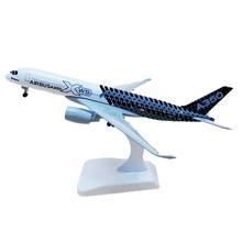 20CM 16CM Airbus A350 prototyp samolot Model samolotu Diecast zabawkowy samolot Airliner Model dzieci prezent na boże narodzenie kolekcjonerski wyświetlacz