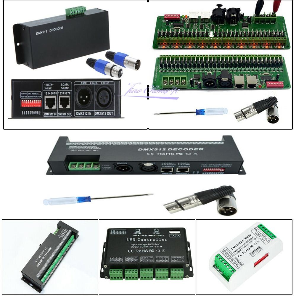3/4/6/12/30CH 30 Channel DMX512 RGB RGBW LED Controller Dmx Decoder Dimmer Driver For 5050 RGB RGBWW LED Strip