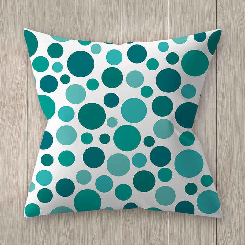 Hot kreatywny odwracalne niebieski poliester poszewka na poduszkę poszewka na poduszkę Sofa samochód talia rzut powłoczka na poduszkę domowa dekoracji nowy
