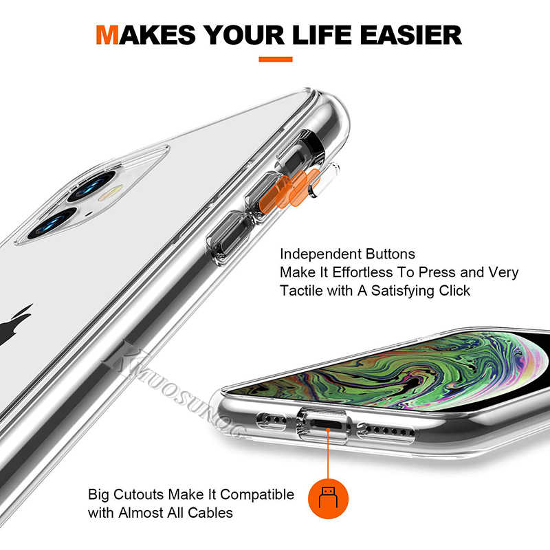 Trong Suốt Trong Suốt TPU Cover Fairy Tail Natsu Logo Cho iPhone 11 11Pro XS Max XR X 8 7 6S 6 Plus 5 5S Ốp Lưng Điện Thoại
