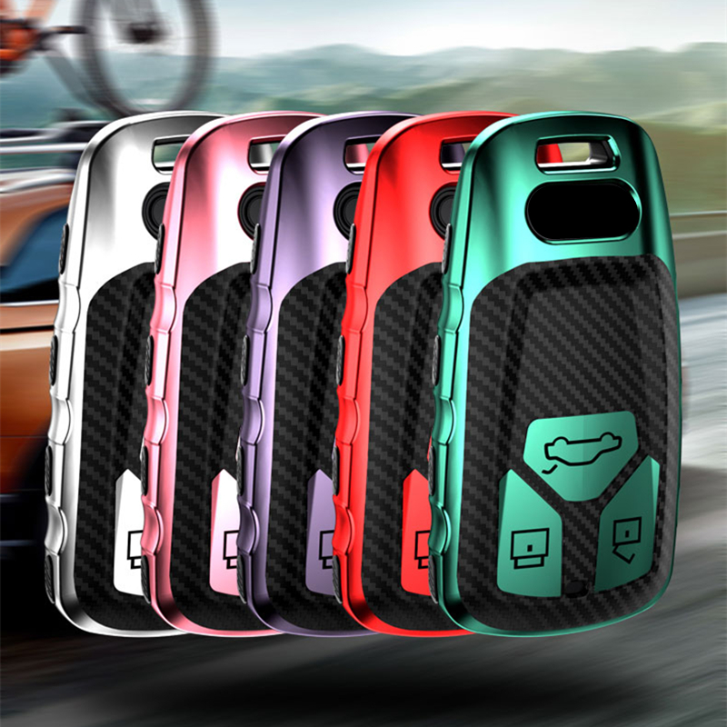 Soft TPU Car Key protect Cover Case Shell For Audi A4 B9 Q5 Q7 TT TTS 8S 2016 2017 car smart remote Car Styling Auto Accessories|Key Case for Car| |  - title=