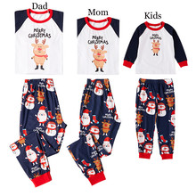 Family Christmas Pajamas Set Matching Family Outfits Warm Adult Kids Girls Boy Mommy Sleepwear Mother Daughter Clothes E0289 цена в Москве и Питере