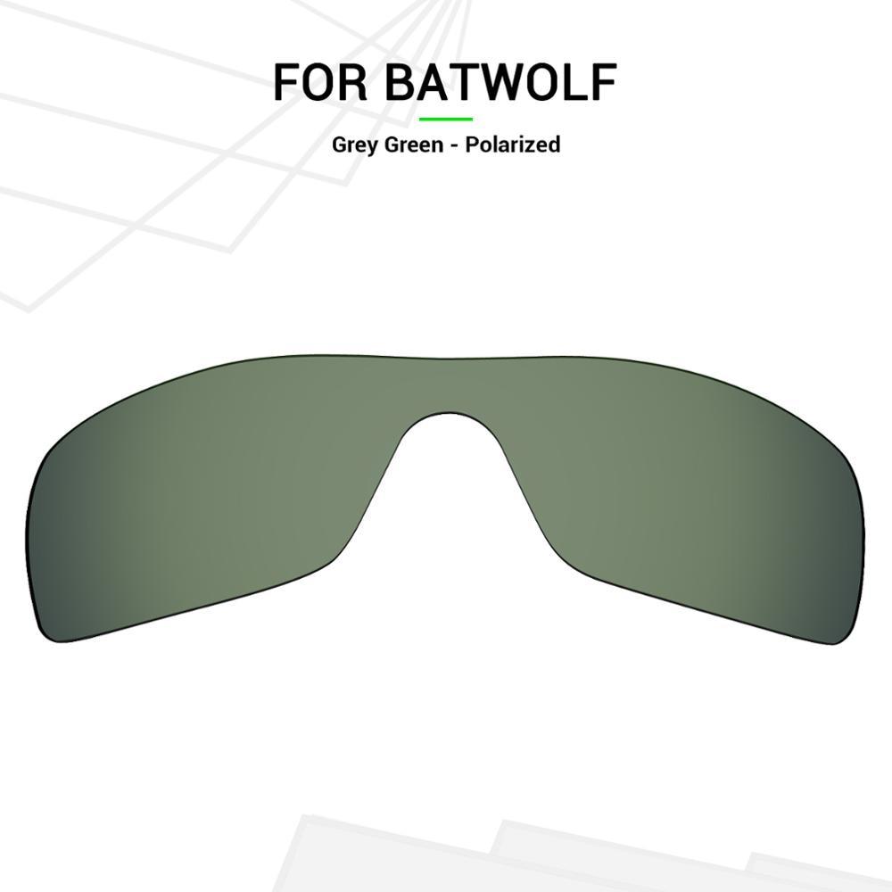 Mryok Anti-Scratch POLARIZED Náhradní čočky pro brýle Oakley Batwolf Grey Green