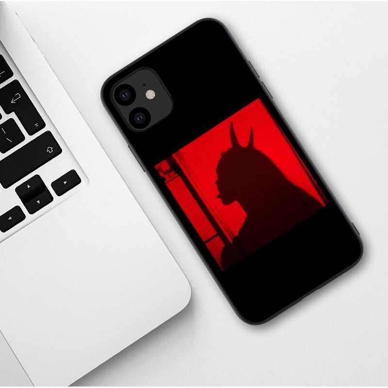 Seksi kız yumuşak silikon telefon kılıfı iphone için 11 Pro Max X 6 6S artı 7 8 artı XR XS MAX güzel şeytan kadın kapak Coque