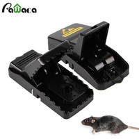 1/2 pces alta qulity reutilizável rato captura ratinhos rato armadilha fácil captura mousetrap isca snap primavera roedor coletor controle de pragas|Armadilhas| |  -