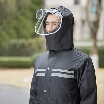 Outdoor Jacket Raincoat Men Scooter Set Travel Hiking Ladies Hooded Raincoat Stylish Survival Impermeable Travel Coat JJ60YY