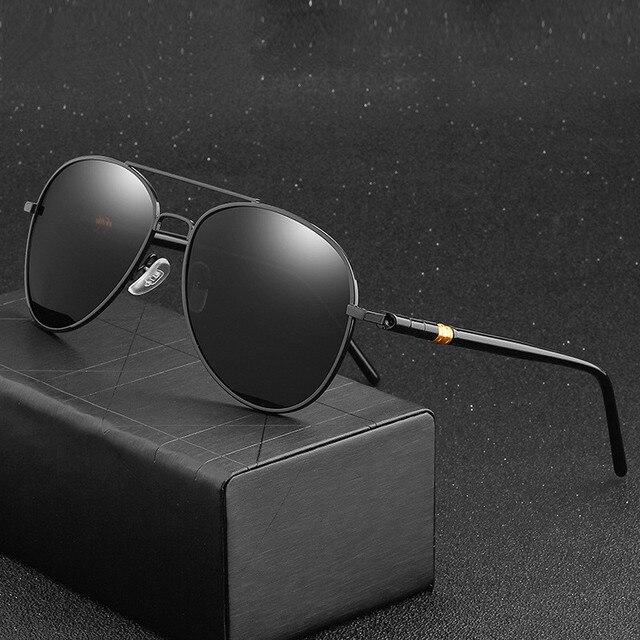 Clásico gafas de sol polarizadas conducción de los hombres gafas negro gafas de sol de aviador de marca de diseñador para hombre gafas de sol Retro Para hombres/mujeres 1