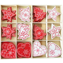 10Pcs 5cm Christmas Tree Wooden Pendants Ornaments Xmas Tree Hanging Ornament Christmas Decorations for Home New Year Gifts 2020