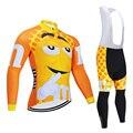 Lustige Radfahren Jersey 9D Bib Set MTB Uniform Gelb Fahrrad Kleidung Atmungsaktiv Fahrrad Kleidung männer Herbst Lange Radfahren Tragen-in Fahrrad-Sets aus Sport und Unterhaltung bei