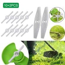 12Pcs Grass Trimmer Plastic Blade Garden Lawn Mower Head Stainless Steel Blade For Cordless Grass Trimmer Garden Tool