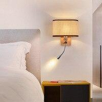 חדש סגנון מקורה מודרני מינימליסטי יצירתי מנורת קיר אמריקאי-סגנון שינה LED מלון הנדסת חדר מנורה שליד המיטה חמה מכירות