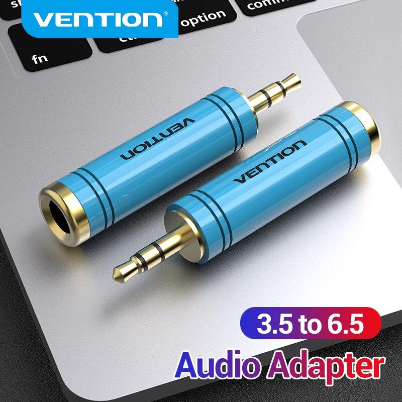 Vention-conector de Audio para amplificador de altavoz, Cable auxiliar de 3,5mm a 6,5mm, adaptador de guitarra eléctrica, 3,5 a 6,35