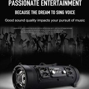Image 5 - Hifi נייד Bluetooth רמקול FM רדיו להעביר KTV 3D יחידת צליל היקפי אלחוטי טלוויזיה קול בר סאב 15W חיצוני רמקול + מיקרופון