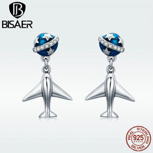 BISAER Fashion Sale 100% 925 Sterling Silver Stud Earrings for Women Jewelry Bijoux GXE331