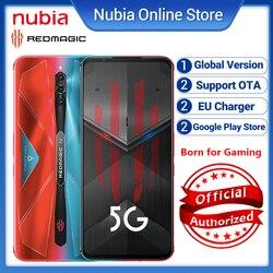 Gobal версия Nubia красный Магия 5S 5G Snapdragon 865 Android 10 смартфон 5G & Wi-Fi 6 активно-матричные осид, 4500 мА/ч, Pubg игровой мобильных телефонов