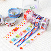 5 Pcs/lot Kawaii Dekoratif Washi Tape Lucu Kartun Scrapbooking Masking Tape Washitape Kantor Pita Perekat Alat Tulis(China)