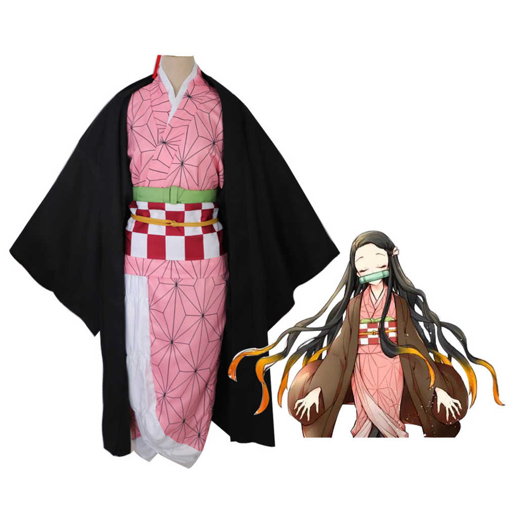 אנימה תלבושות קוטלת שד קוספליי Tanjirou קאמאדו קוספליי תלבושות Kimetsu לא Yaiba גברים קימונו תלבושות ליל כל הקדושים