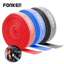FONKEN USB Кабельный организатор 5 м 1 м Управление кабель протектор держатель для галстуков для наушники Мышь обруч лента намотки проволоки
