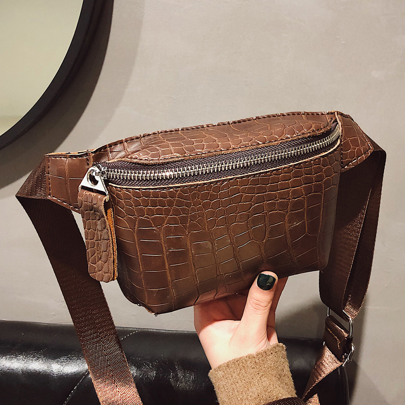PU Leather Fanny Packs For Women 2020 New Fashion Ladies Waist Bags Female Small Belt Bag Girls Shoulder Backpack