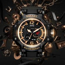 SMAEL New Men Waterproof Led Electronic Watches Male Fashion