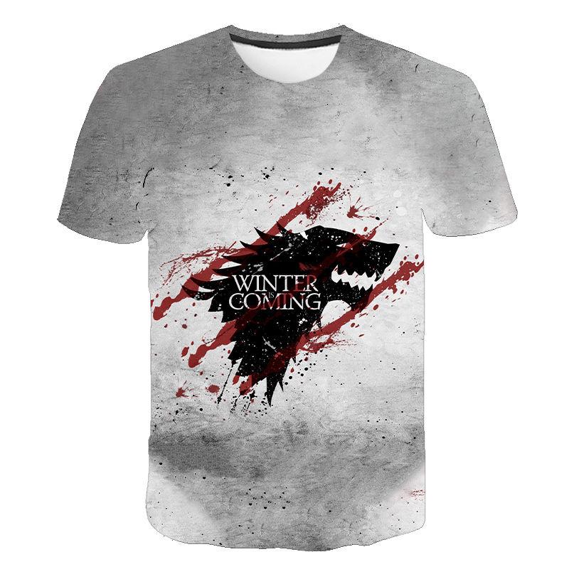 2020 New Summer T-shirt Men/Women Game Of Thrones T Shirt Fashion Got 3d Printed Short Sleeve Tops Boy Girl Children's Cool Tees