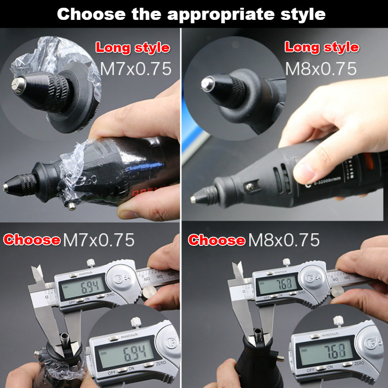 0.3mm to 3.2mm Long Tail Quick Change Multi Keyless Chuck Grinder Power Rotary