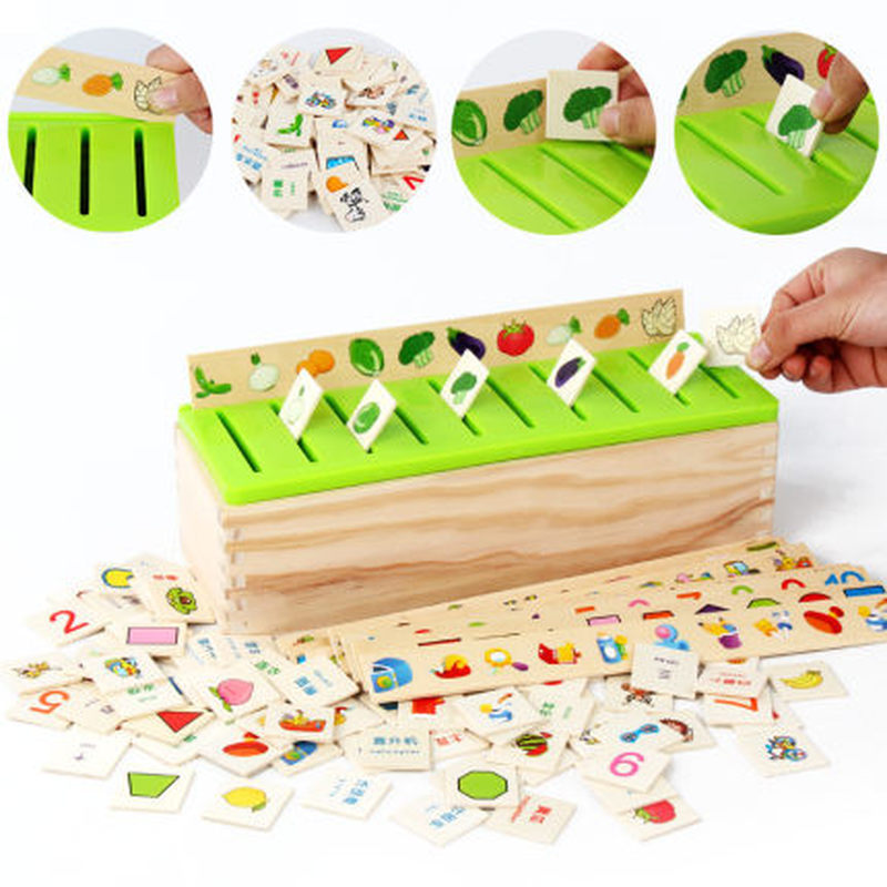 Mathematical Knowledge Classification Early Learn Matching Kids Montessori Early Educational Learn Toy Wooden Cognitive Matching 2