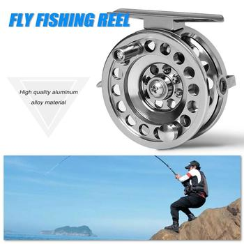Fly Fishing Wheel Reels CNC Machine Cut Large Arbor Die Casting Aluminum Fly Reel 50 60mm  Gear ratio 1:1 Fishing Tackle Right H
