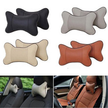 цена на Travel Car Auto Seat Head Neck Rest Breathable Leather Cushion Neck Safety Pad Head Rest Bone Pillow Automotive Leather Pillow