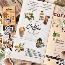46 pcs/box Coffee shop paper stickers DIY decoration Stickers Diary Scrapbooking Envelope seal Sticker Stationery