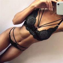 Lencería Sexy para mujer, conjunto de sujetador y bragas de calidad, conjunto de lencería con encaje, picardías, ropa interior erótica