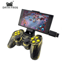 Data Frog Wireless Controller 2.4 G Android Gamepad Joystick Type C For Android Smart Phone Joypad For PC For PS3 TV Box wireless gamepad gaming controller for ps3 android tv box pc gpd xd with otg converter computer joystick joypad