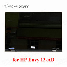 "928482-001 สำหรับHP ENVY 13-AD Series 13.3 ""LED LCD Touch Panel Assembly Silver 1920*1080 UHD 3840*2160 13 AD 928480-001(China)"