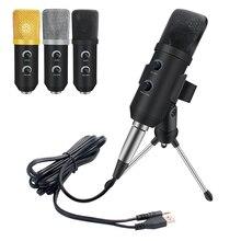 Mk F100TL Usb Microfono a Condensatore Kit Microfono di Registrazione con Il Basamento Studio Pc Microfono per Podcast Karaoke Portatile di Skype