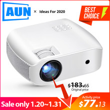 Aun Mini Projector F10UP, 1280*720 P, Android 7.1 (2G + 16G) wifi Led Proyector Voor 1080P 3D Home Cinema, Nieuwe Hdmi Video Beamer(China)