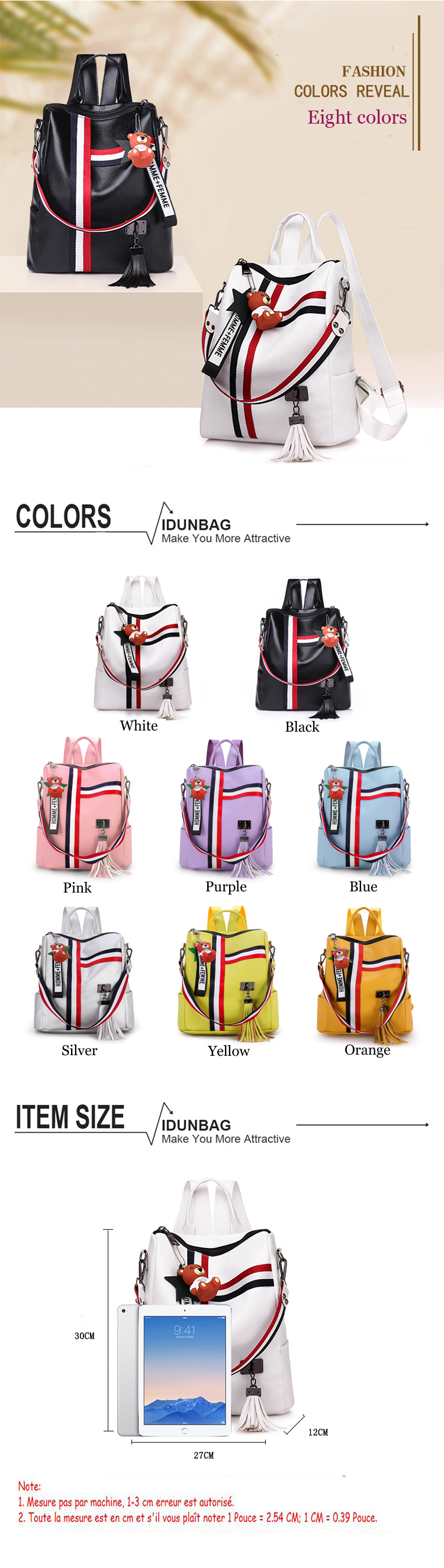 H54bad74a234c4dcfa9011efa02cb2d89i bags for women 2019 new retro fashion zipper ladies backpack PU Leather high quality school bag shoulder bag for youth bags