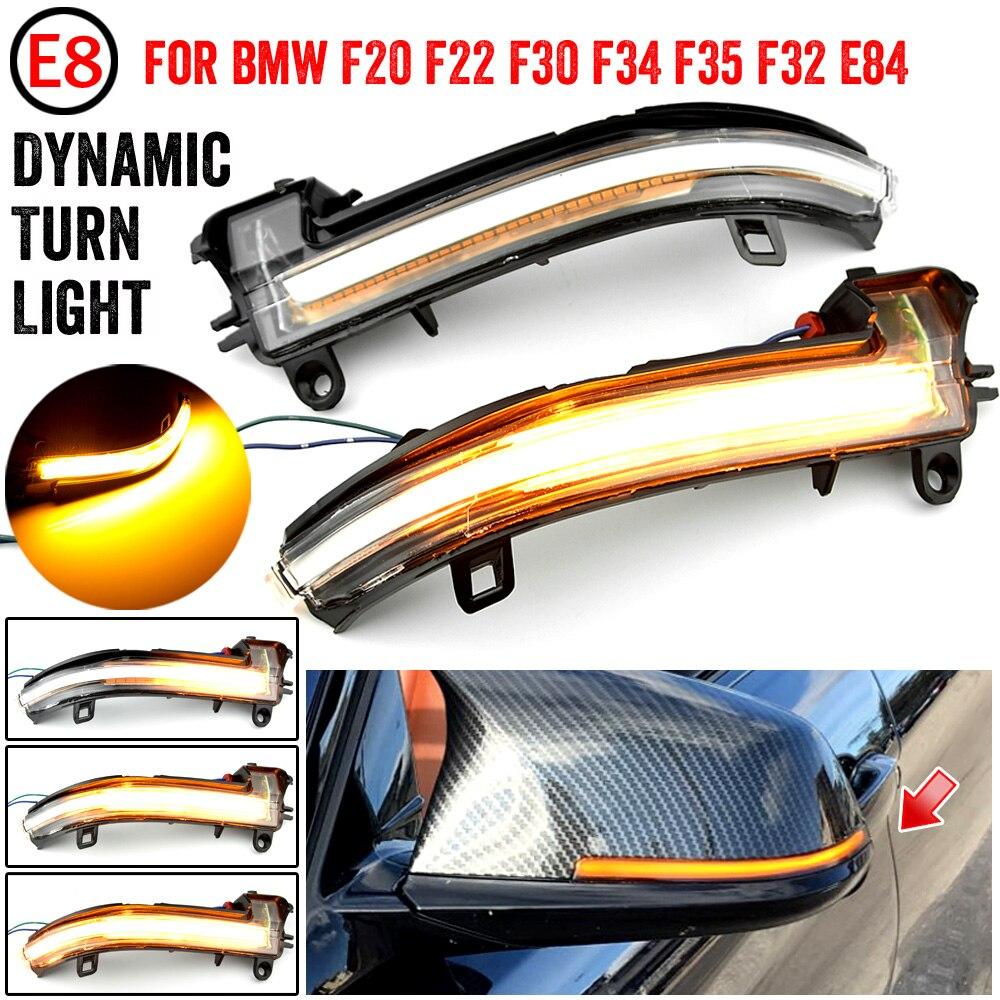 2 peças Dinâmica Retrovisor Espelho Blinker Turn Signal LED light Para BMW 1 2 3 4 série F20 F30 F31 F21 F22 F23 F32 F33 F34 X1 E84