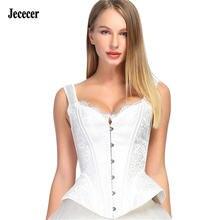 Белый корсет jececer сексуальные топы для женщин свадебные корсеты